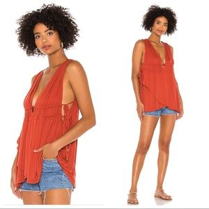 NWT Free People Aries Plunge Neck Tank Top